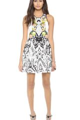 Juicy Couture Deco Holiday Print Dress - Lyst