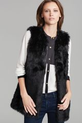 Juicy Couture Vest Faux Fur - Lyst