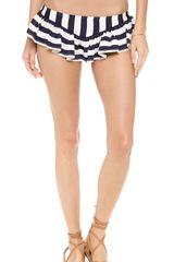 Juicy Couture Boho Stripe Skirted Bikini Bottoms - Lyst
