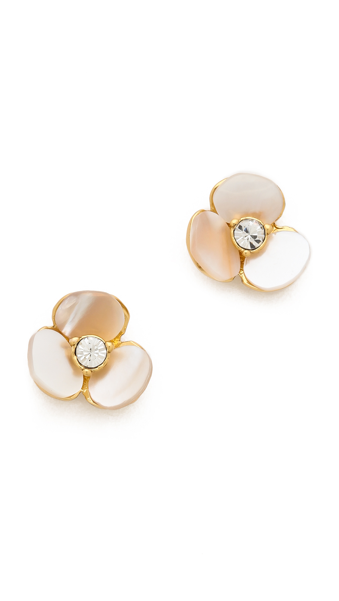 Kate Spade New York Disco Pansy Stud Earrings In White Lyst