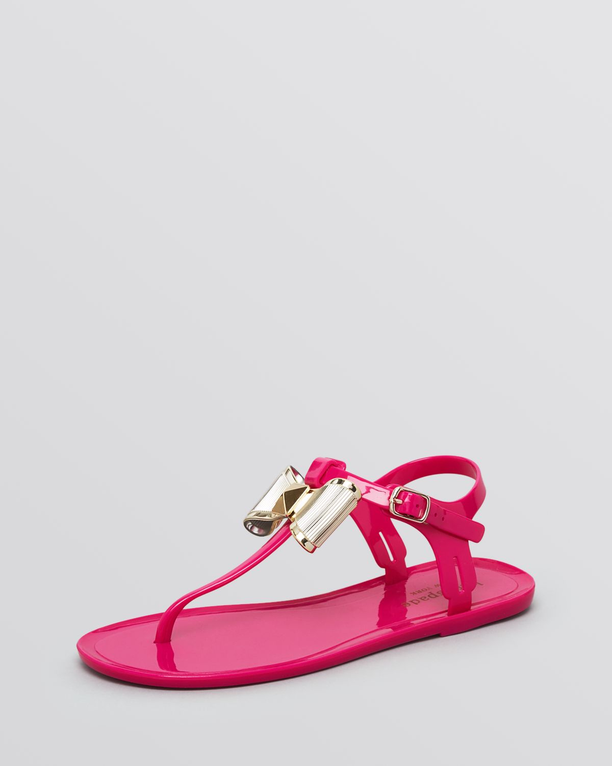 79a500e6b50 Lyst - Kate Spade Jelly Thong Sandals - Fab in Pink