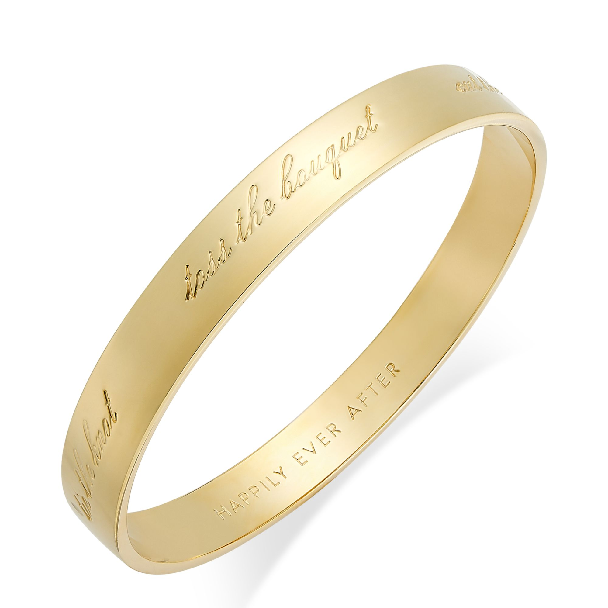 Kate Spade Gold Tone Happily Ever After Bridal Idiom