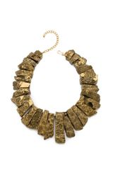 Kenneth Jay Lane Graduated Stick Agate Necklace - Lyst