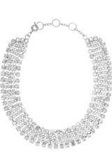 Kenneth Jay Lane Rhodiumplated Swarovski Crystal Necklace - Lyst