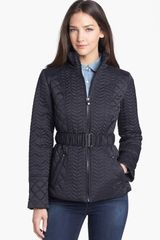 Laundry By Shelli Segal Belted Quilted Jacket - Lyst