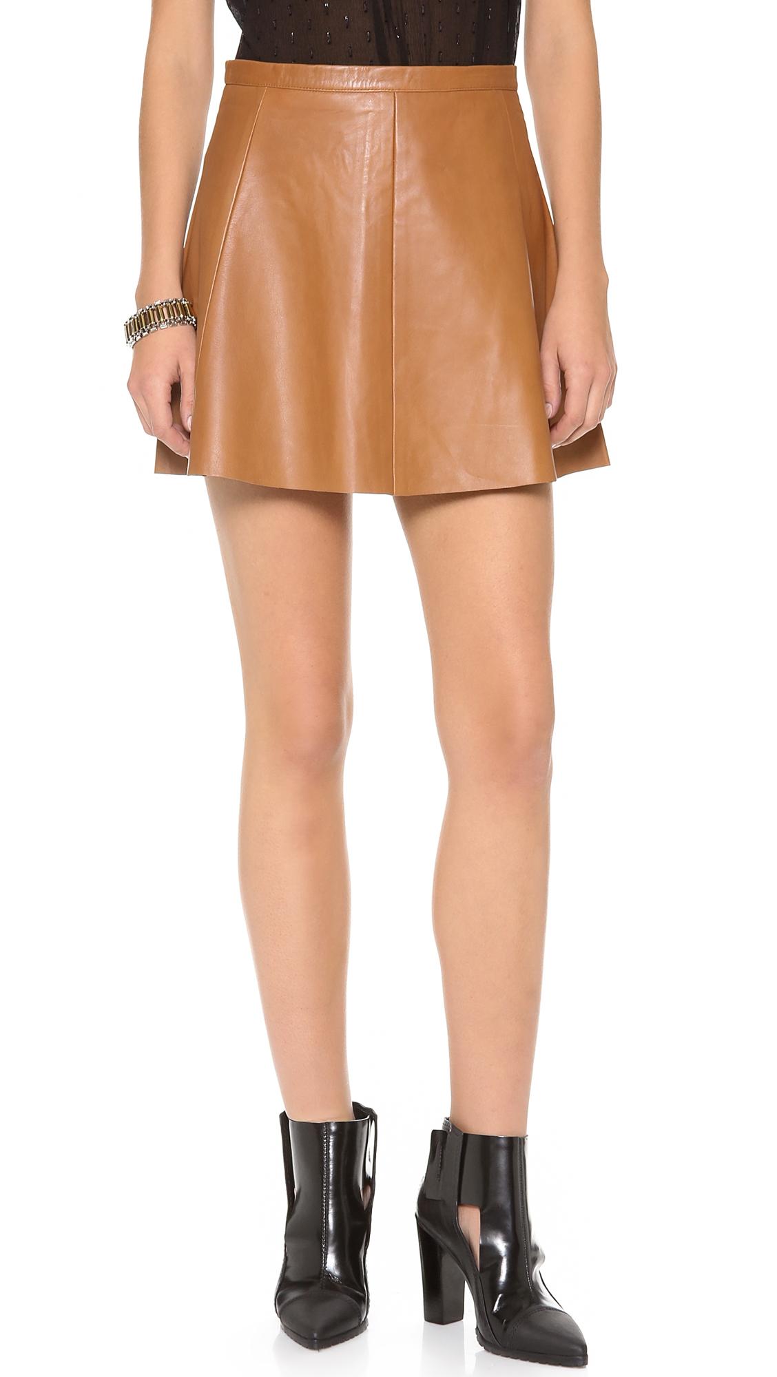 Love leather Legs Legs Legs Leather Skirt in Brown | Lyst