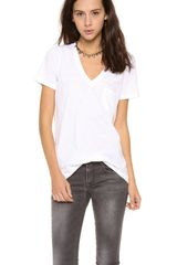 Madewell New Slub V Neck Pocket Tee - Lyst