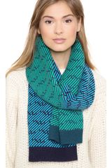 Marc By Marc Jacobs Slash Chevron Scarf - Lyst