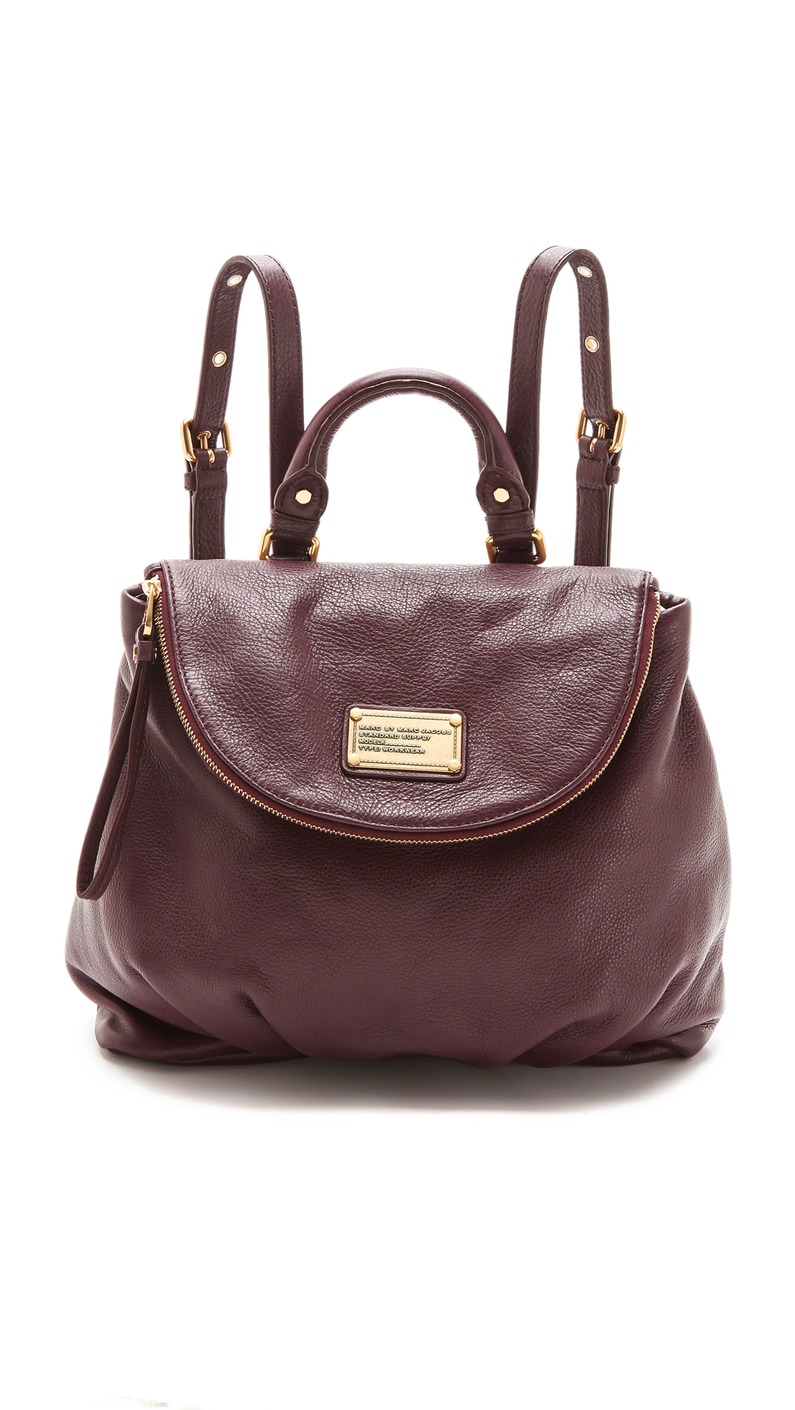 71631326aac Marc By Marc Jacobs Classic Q Mariska Backpack in Brown - Lyst