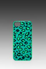 Marc By Marc Jacobs Sasha Leopard Iphone 5 Case in Green - Lyst