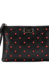 Marc Jacobs Bead Embellished Leather Pouch - Lyst