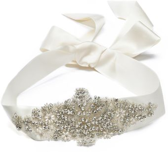 Marchesa Crystal Ribbon Belt - Lyst