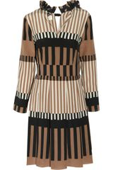 Marni Printed Silk crepe Dress - Lyst