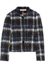 Marni Plaid Brushed tweed Jacket - Lyst