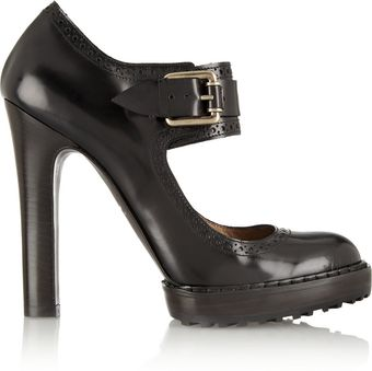 McQ by Alexander McQueen Glossedleather Mary Jane Pumps - Lyst