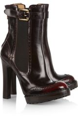 McQ by Alexander McQueen Glossed-Leather Boots - Lyst