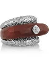 Miriam Salat Imperial Resin and Crystal Ring - Lyst