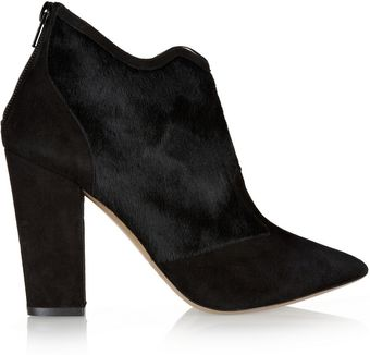 Nicholas Kirkwood Calf Hair and Suede Ankle Boots - Lyst