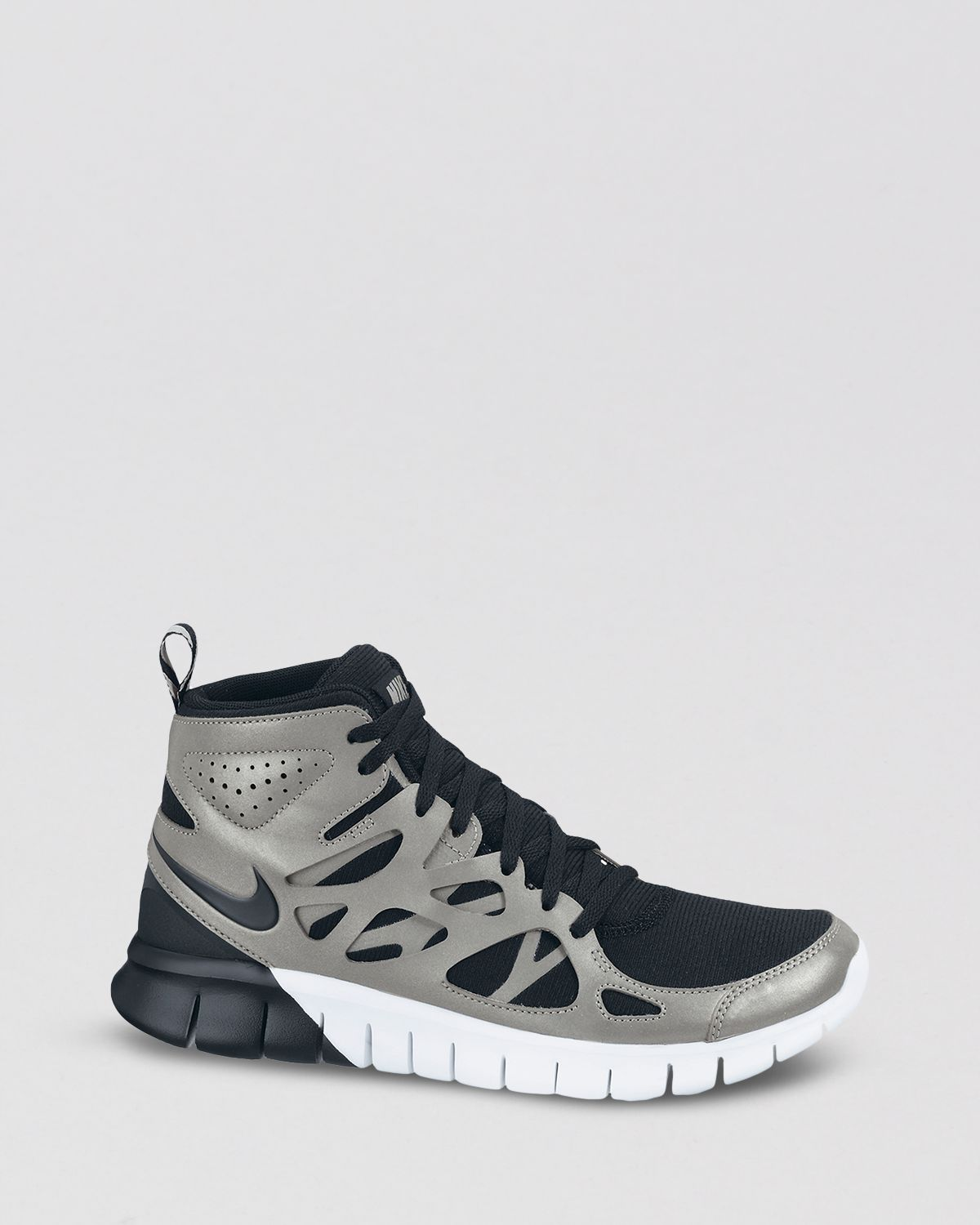 0bcab7ea6e2451 Lyst - Nike Lace Up High Top Sneakers Womens Free Run 2 Mid in Gray