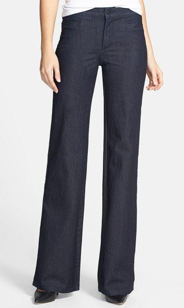 Nydj Flipia Stretch Denim Trouser Jeans in Blue (Dark Enzyme)