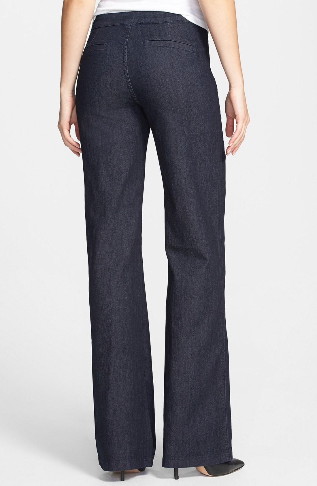 Nydj Flipia Stretch Denim Trouser Jeans in Blue | Lyst