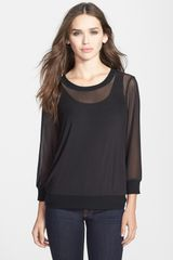 Olivia Moon Mesh Top With Tank Insert - Lyst