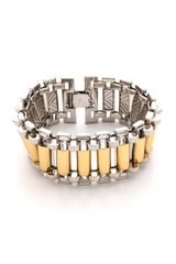 Rachel Zoe Two Tone Narrow Watchband Bracelet - Lyst