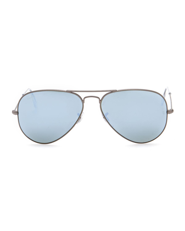 Ray bans mirrored aviators for Mirror sunglasses