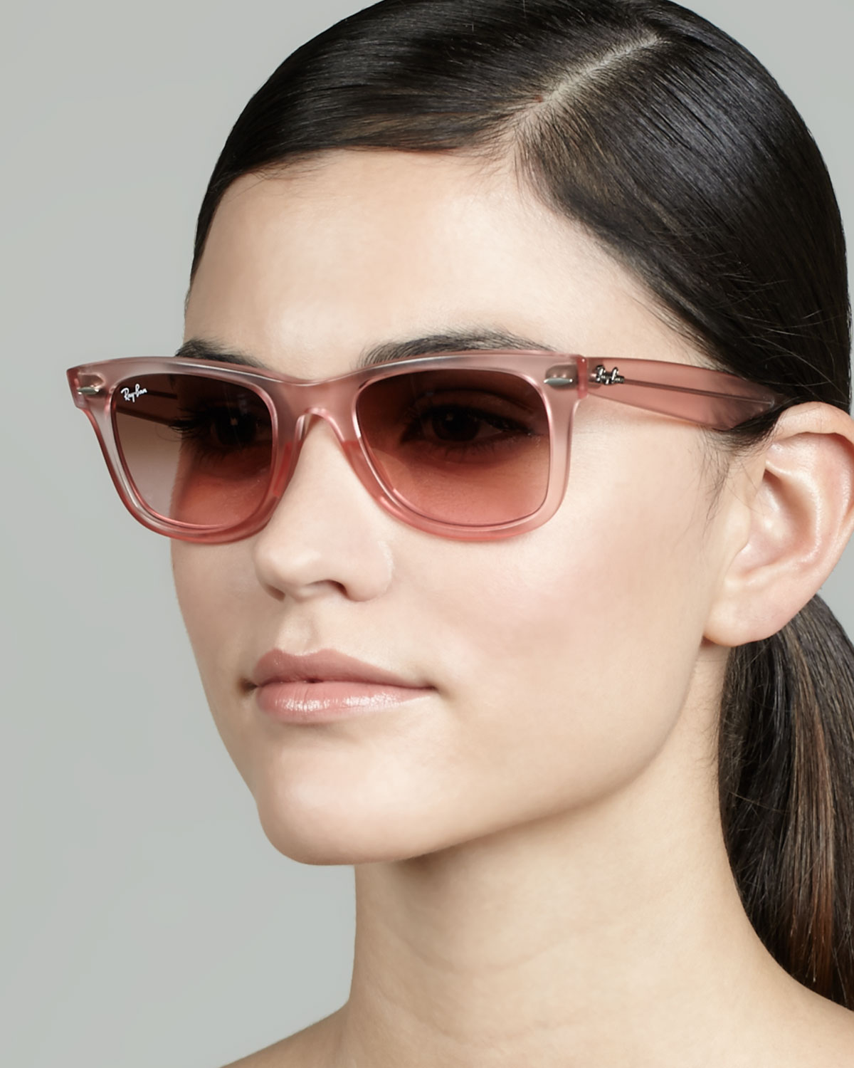 Lyst Ray Ban Ice Pop Sunglasses Pink In Pink