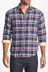 Relwen Plaid Double Flannel Classic Fit Sport Shirt - Lyst