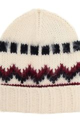 Saint Laurent Woolalpaca Knitted Beanie Hat - Lyst