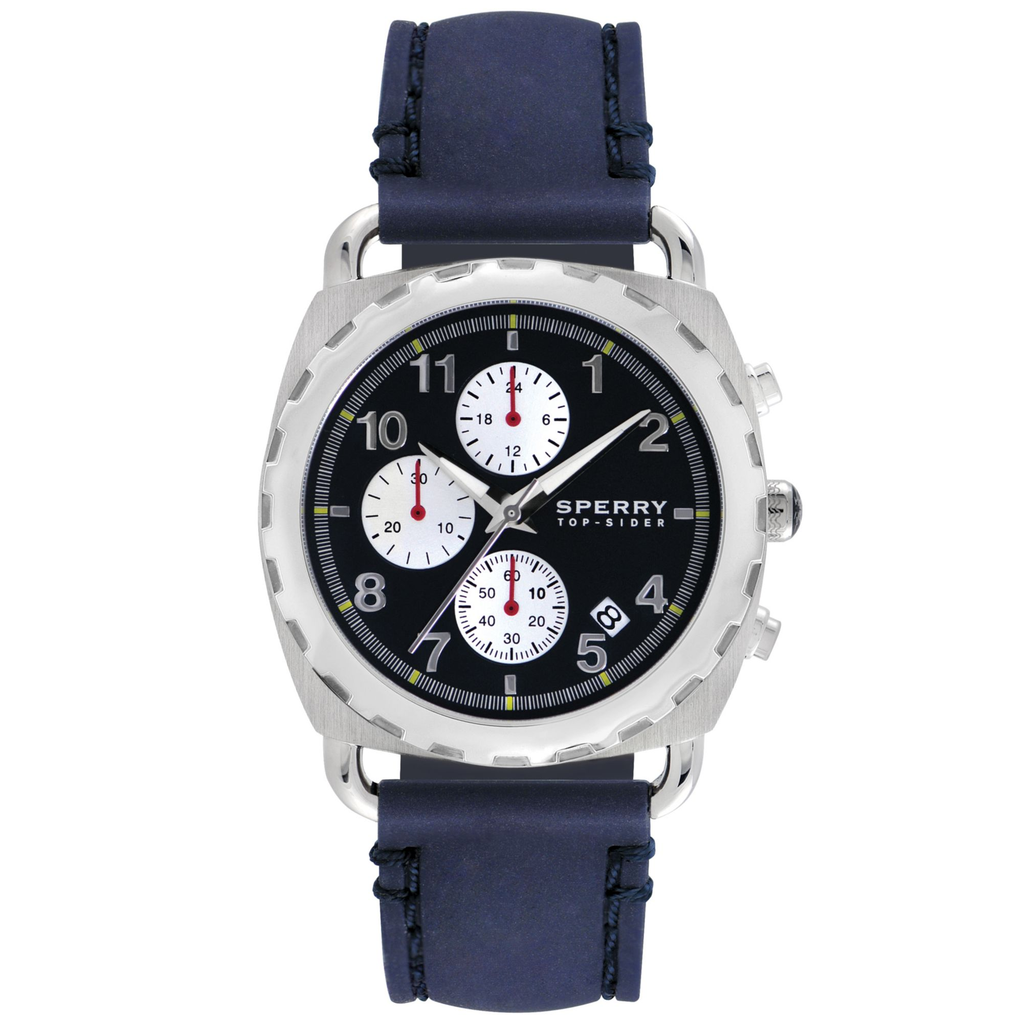 sperry top sider mens chronograph mariner blue silicone