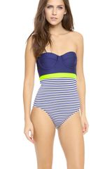 Splendid Malibu Stripe One Piece - Lyst