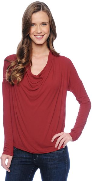Splendid Drapey Lux Drapey Neck Top - Lyst