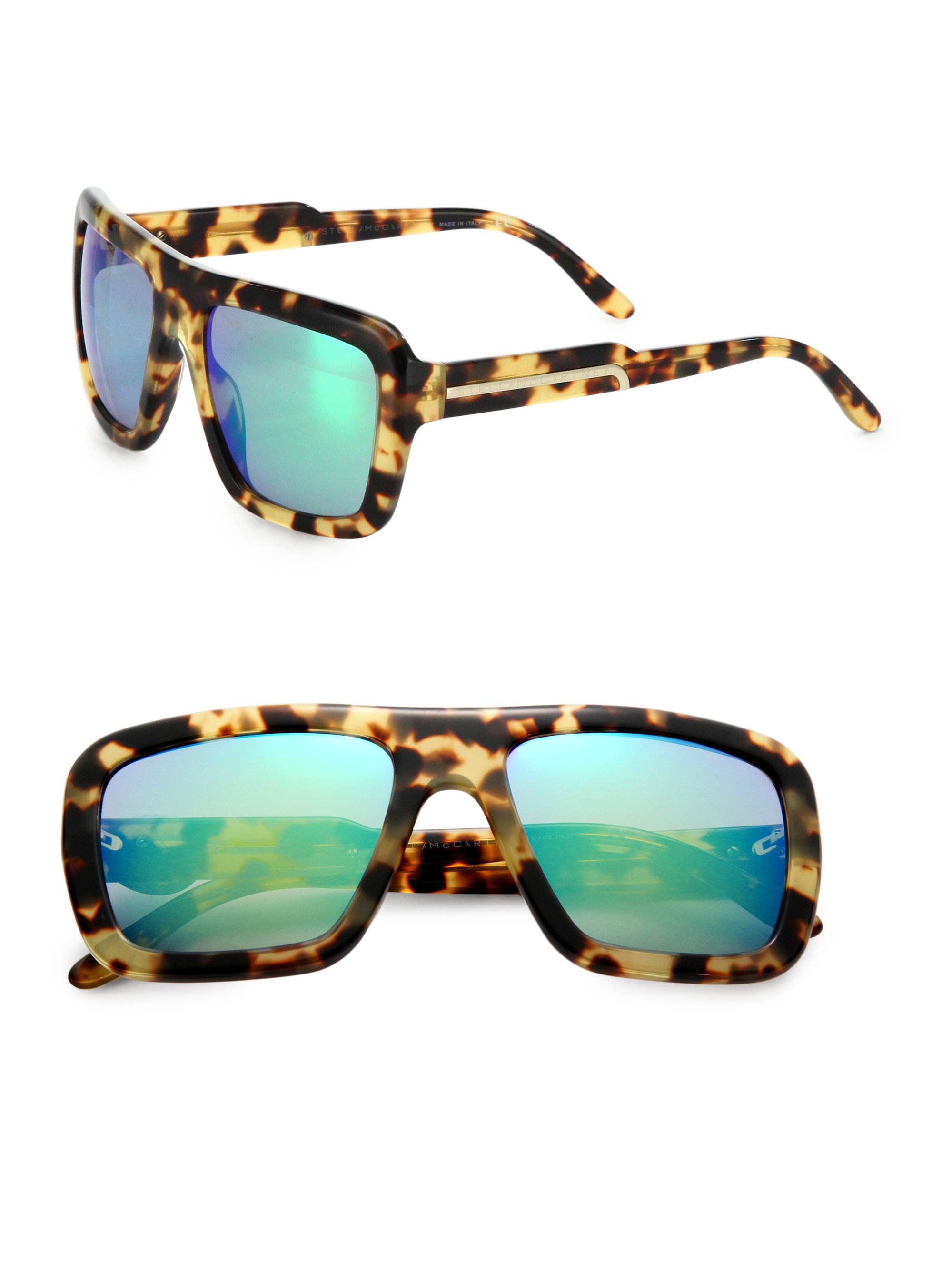Lyst Stella Mccartney Oversized Square Sunglasses In Brown