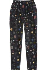 Stella McCartney Christine Printed Silk Tapered Pants - Lyst