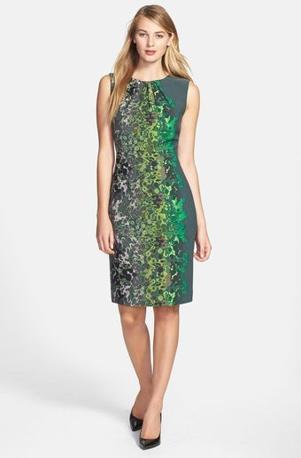 T Tahari Lucille Print Sheath Dress - Lyst