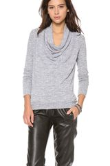 Three Dots Long Sleeve Cowl Sweater - Lyst