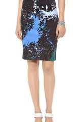 Tibi Splatter Print Pencil Skirt - Lyst