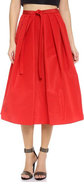 Tibi Faille Skirt - Lyst