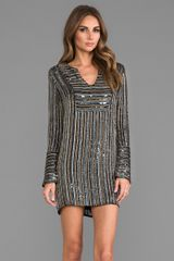 Torn By Ronny Kobo Ariella Dress in Metallic Gold - Lyst