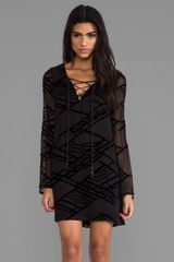 Twelfth Street by Cynthia Vincent Tie Front Shift Dress in Black - Lyst