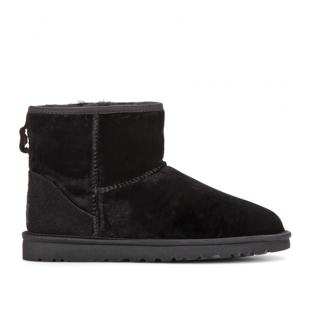 Lyst Ugg Classic Mini Velvet Boots In Black