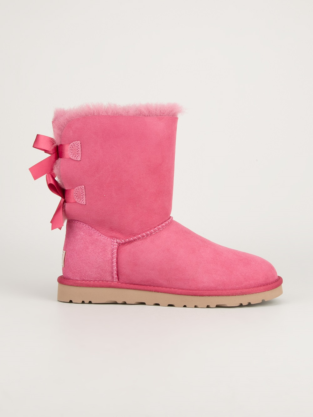 Ugg Bailey Bow Boot In Purple Pink Amp Purple Lyst