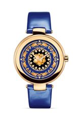Versace Mystique Foulard Round Rose Gold Pvd Watch 38mm - Lyst