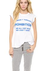 Wildfox Made It Through Prohibition Tee - Lyst