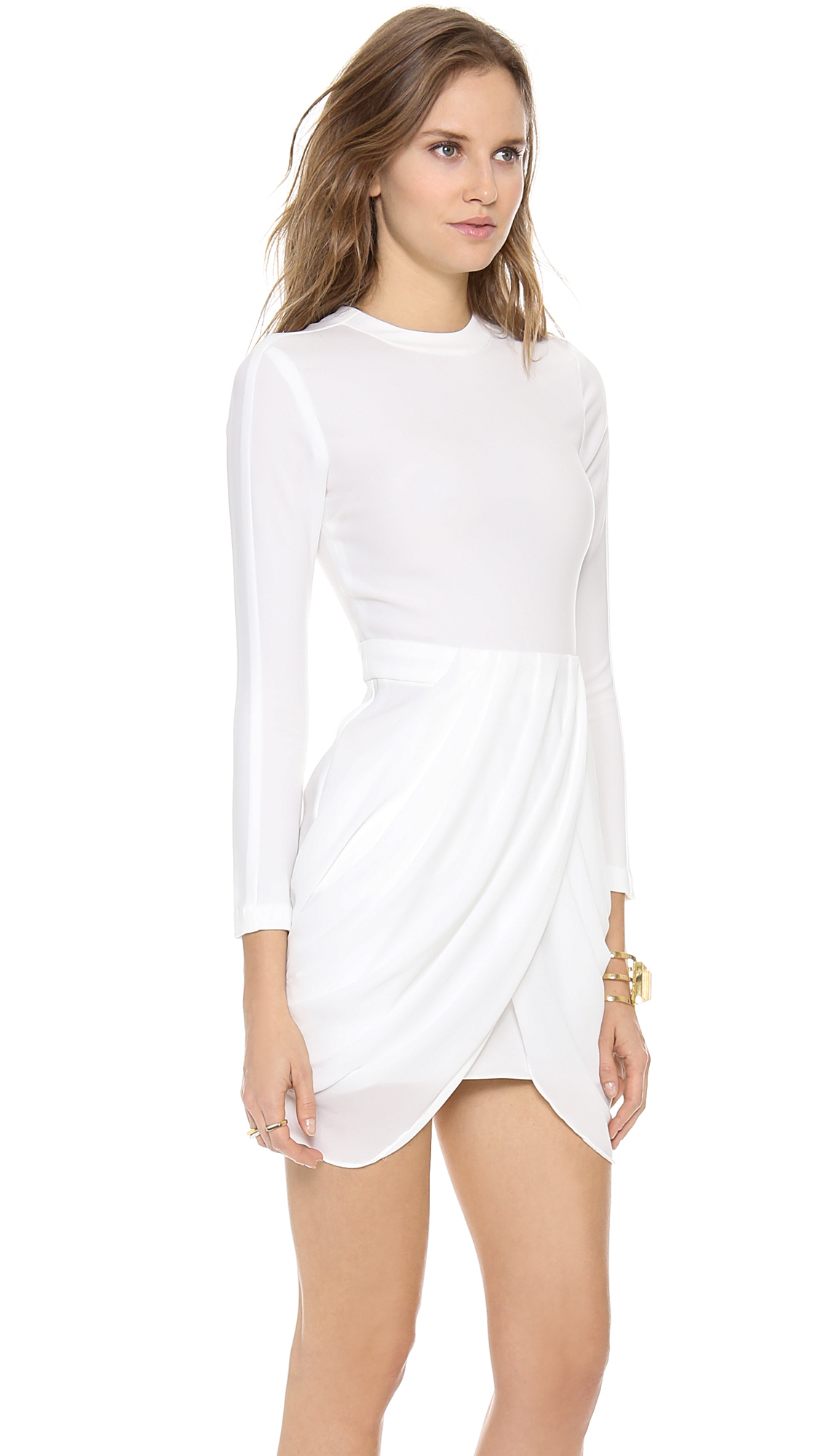 A L C Tolan Dress In White Lyst