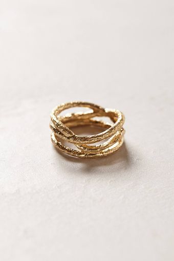 Anthropologie Golden Thicket Ring - Lyst