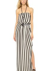 By Malene Birger Artie Strapless Stripe Maxi Dress - Lyst