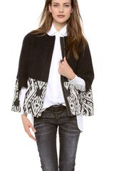 Cut25 By Yigal Azrouël Textured Cape - Lyst